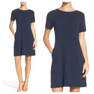 French connection navy Sudan short sleeve dress 4